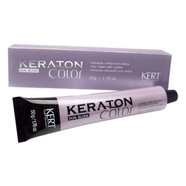 Coloração Keraton Color Dual Block 50 gr Louro Escuro Cinza 6.1