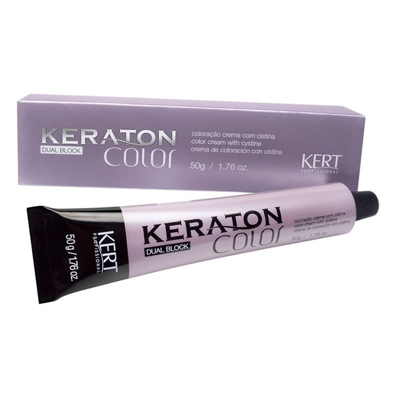 Coloração Keraton Color Dual Block 50 gr Louro Escuro Marrom Cinza 6.71