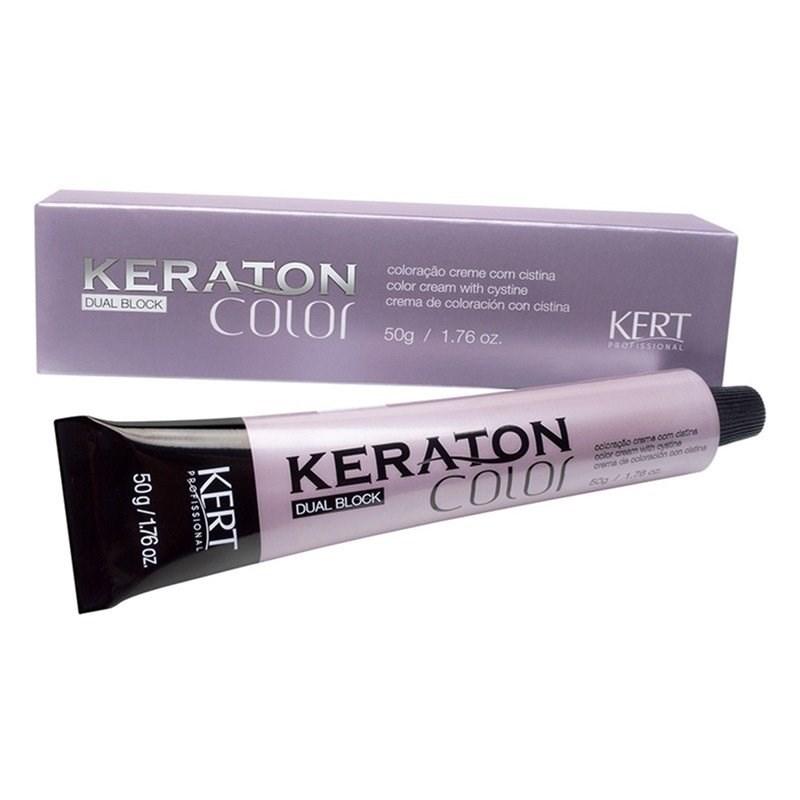 Coloração Keraton Color Dual Block 50 gr Louro Médio Acobreado Cinza 7.47