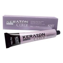 Coloração Keraton Color Dual Block 50 gr Louro Médio Cinza 7.1