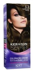Coloração Keraton Selfie 50 gr Castanho Claro Dourado 5.3