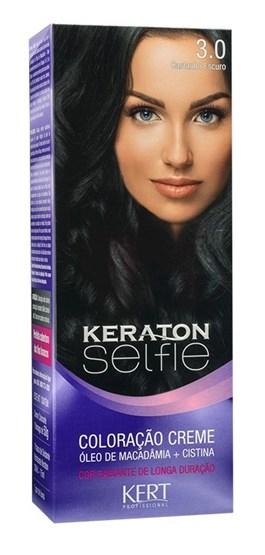 Coloração Keraton Selfie 50 gr Castanho Escuro 3.0
