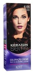 Coloração Keraton Selfie 50 gr Castanho Médio Vermelho Intenso 4.66