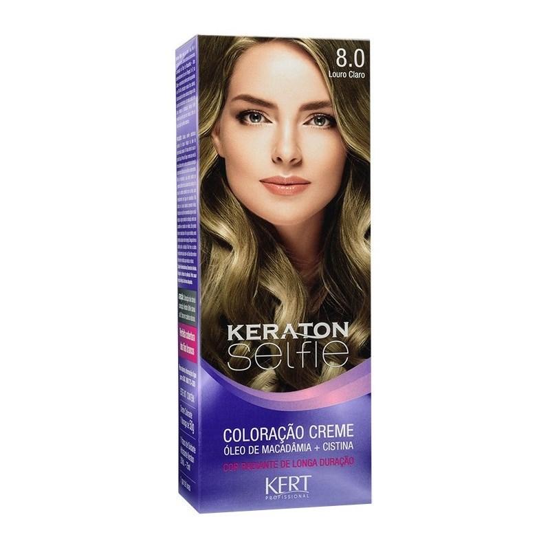 Coloração Keraton Selfie 50 gr Louro Claro 8.0