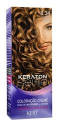 Coloração Keraton Selfie 50 gr Louro Claro Dourado Acobreado 8.34