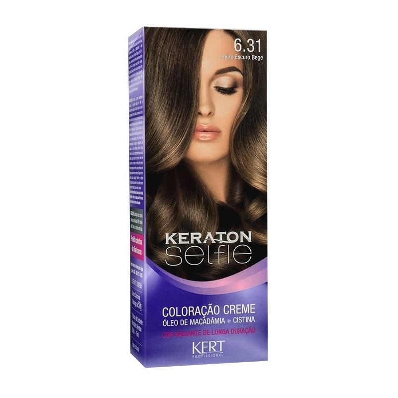 Coloração Keraton Selfie 50 gr Louro Escuro Bege 6.31