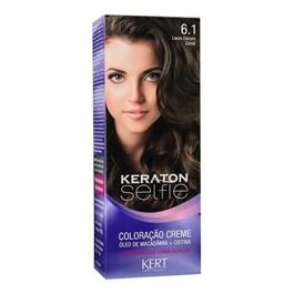 Coloração Keraton Selfie 50 gr Louro Escuro Cinza 6.1