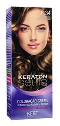 Coloração Keraton Selfie 50 gr Louro Escuro Dourado Acobreado 6.34