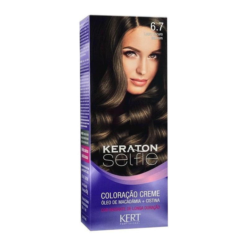 Coloração Keraton Selfie 50 gr Louro Escuro Marrom 6.7