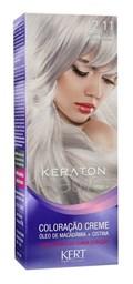 Coloração Keraton Selfie 50 gr Louro Especial Cinza Intenso 12.11