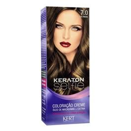 Coloração Keraton Selfie 50 gr Louro Médio 7.0