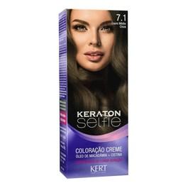 Coloração Keraton Selfie 50 gr Louro Médio Cinza 7.1