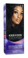 Coloração Keraton Selfie 50 gr Preto 1.0