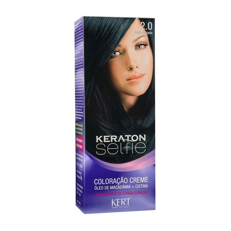 Coloração Keraton Selfie 50 gr Preto Azulado 2.0