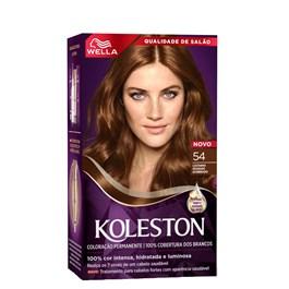 Coloração Koleston Castanho Dourado Acobreado 54