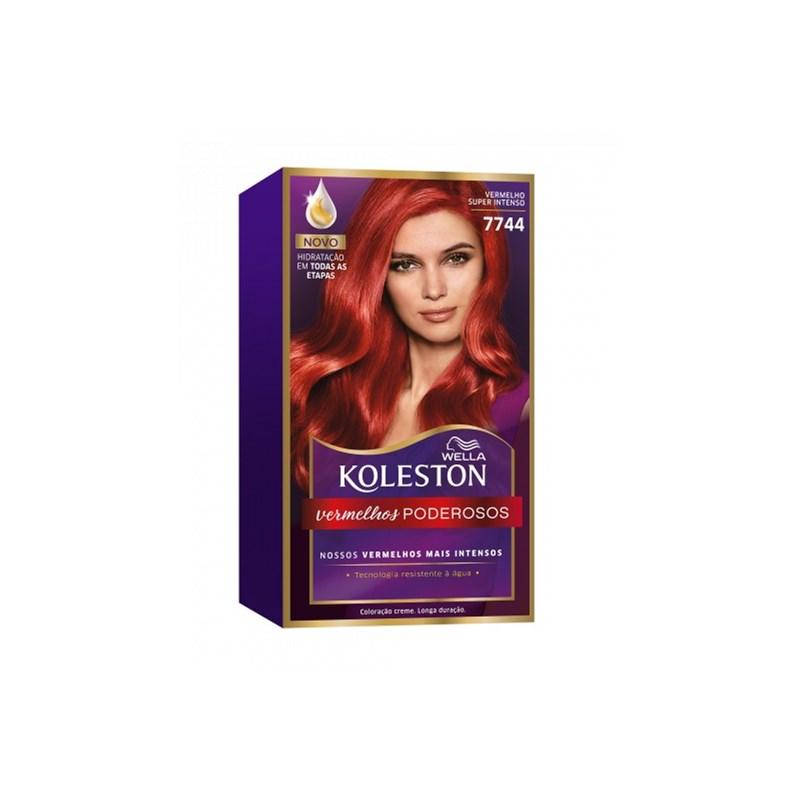 Coloração Koleston Vermelho Super intenso 7744
