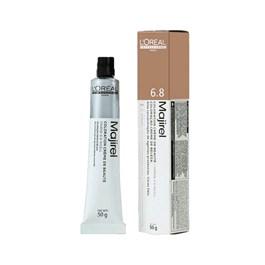 Coloração L'Oréal Majirel 6.8 Louro Escuro Marrom Natural Luminoso 50g