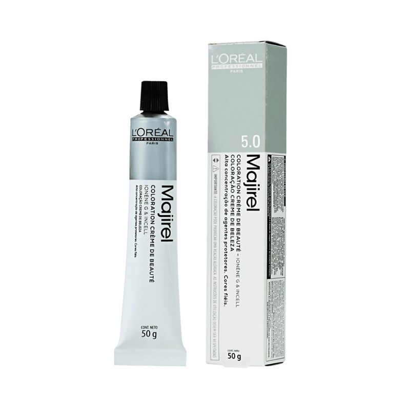 Coloração L'oréal Professionnel Majirel 50 gr Castanho Claro Natural Profundo 5.0