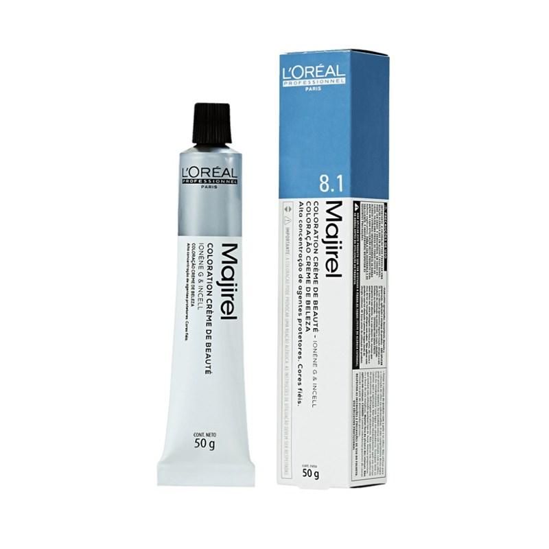 Coloração L'oréal Professionnel Majirel 50 gr Louro Claro Acinzentado 8.1