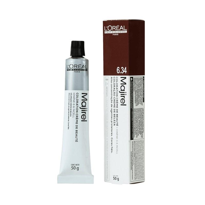 Coloração L'oréal Professionnel Majirel 50 gr Louro Escuro Dourado Acobreado 6.34