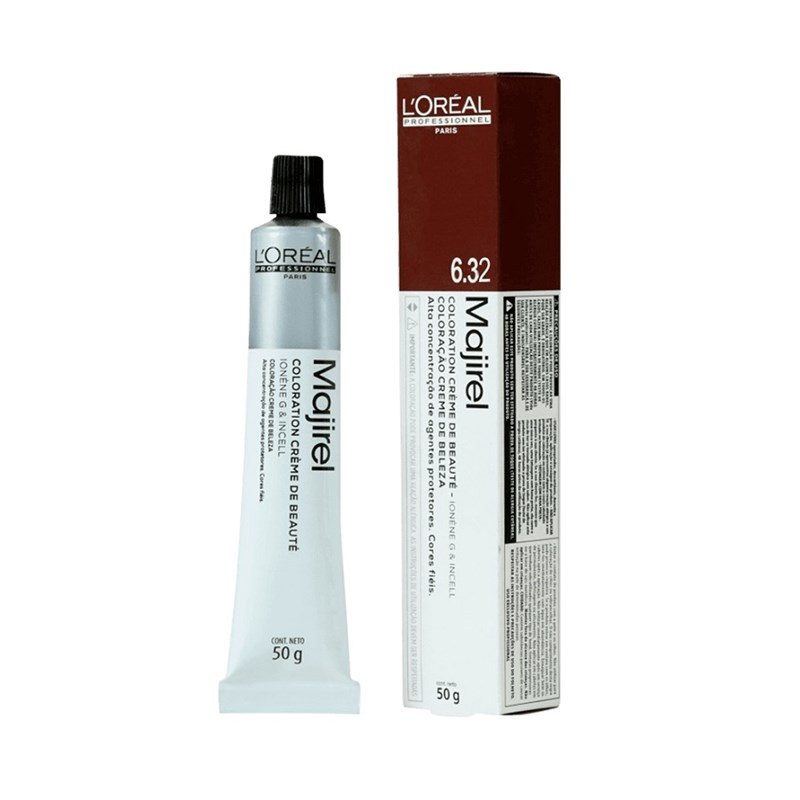 Coloração L'oréal Professionnel Majirel 50 gr Louro Escuro Dourado Irisado 6.32