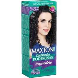 Coloração Maxton Free Cacheadas Poderosas Preto Intenso 1.00