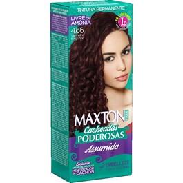 Coloração Maxton Free Cacheadas Poderosas Vermelho Borgonha 4.66