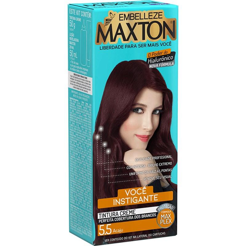 Coloração Maxton Kit Econômico Acaju 5.5