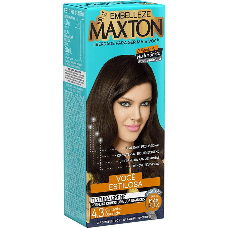 Coloração Maxton Kit Econômico Castanho Dourado 4.3