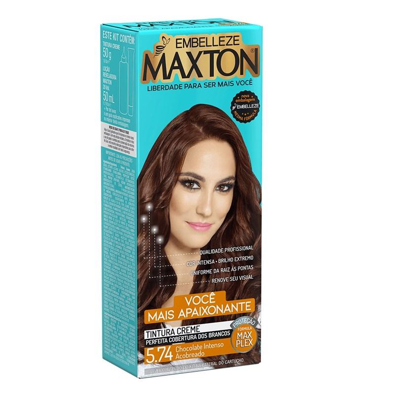 Coloração Maxton Kit Econômico Chocolate Intenso Acobreado 5.74