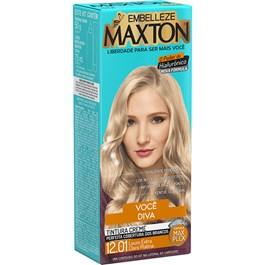 Coloração Maxton Kit Economico Louro Extra Claro Platina 12.01