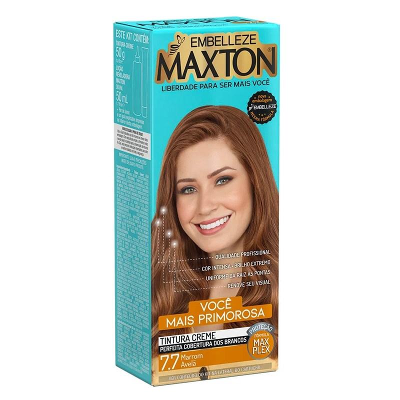 Coloração Maxton Kit Econômico Marrom Cintiliante 7.7