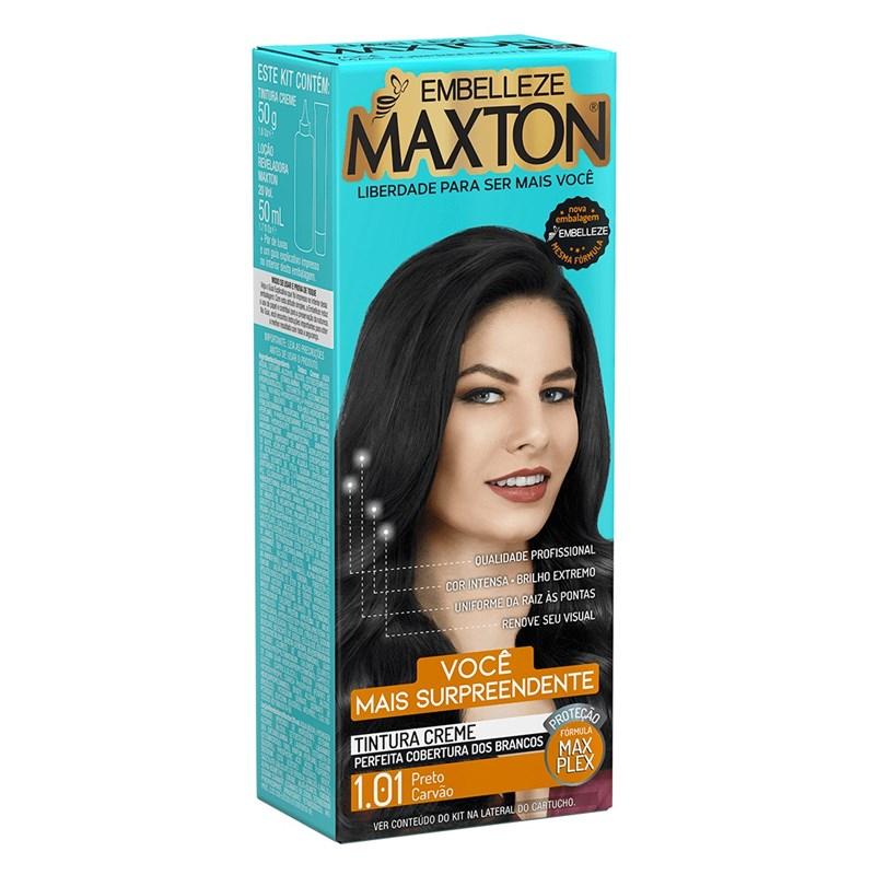 Coloração Maxton Kit Econômico Preto Carvão 1.01