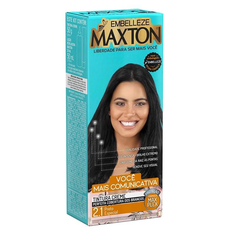 Coloração Maxton Kit Econômico Preto Especial 2.1