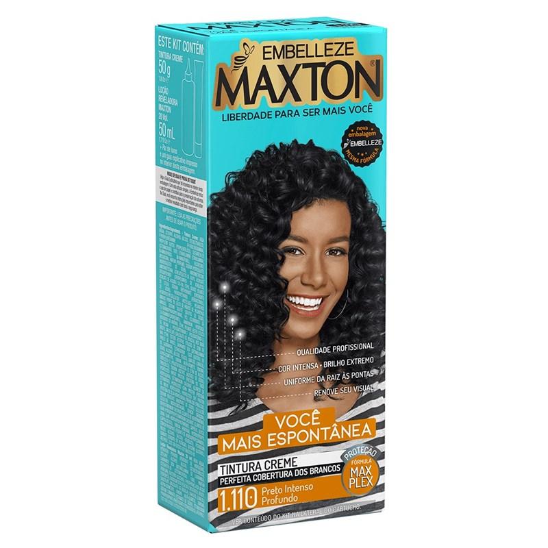 Coloração Maxton Kit Econômico Preto Intenso Profundo 1.110