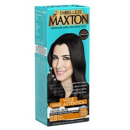 Coloração Maxton Kit Econômico Preto Tabaco 2.8