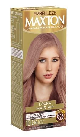 Coloração Maxton Loura Mais Vip Louro Rosé 10.04