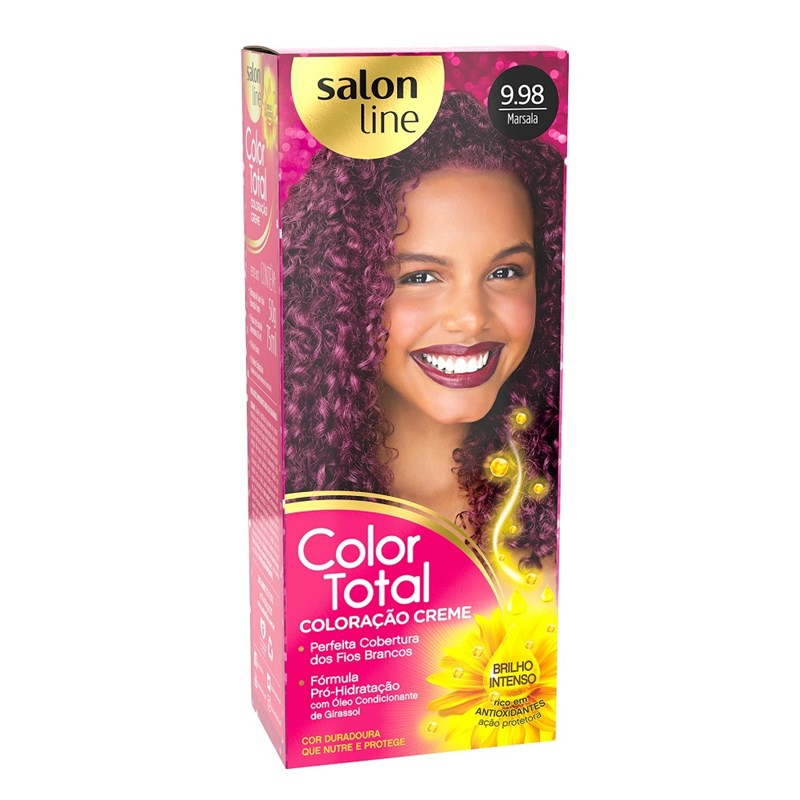 Coloração Salon Line Color Total Castanho Vermelho Acaju 4.65