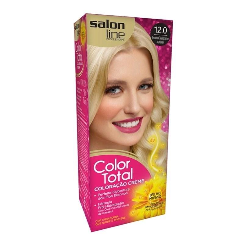 Coloração Salon Line Color Total Louro Claríssimo Natural 12.0