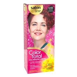 Coloração Salon Line Color Total Louro Escuro Vermelho Intenso 6.66