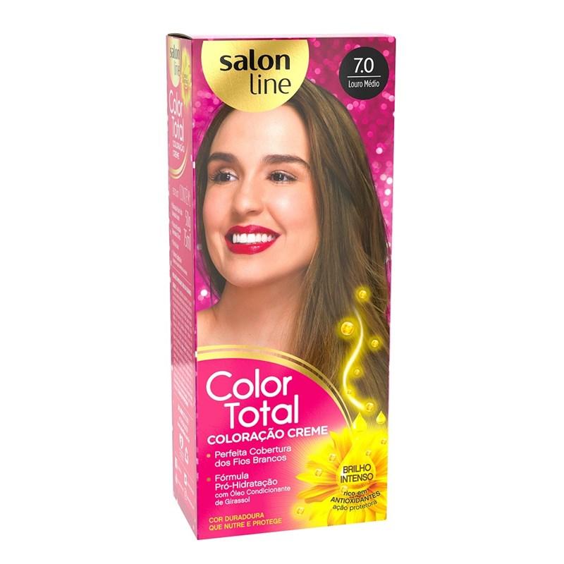 Coloração Salon Line Color Total Louro Medio 7.0
