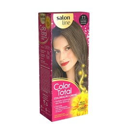 Coloração Salon Line Color Total Louro Medio Acinzentado 7.1