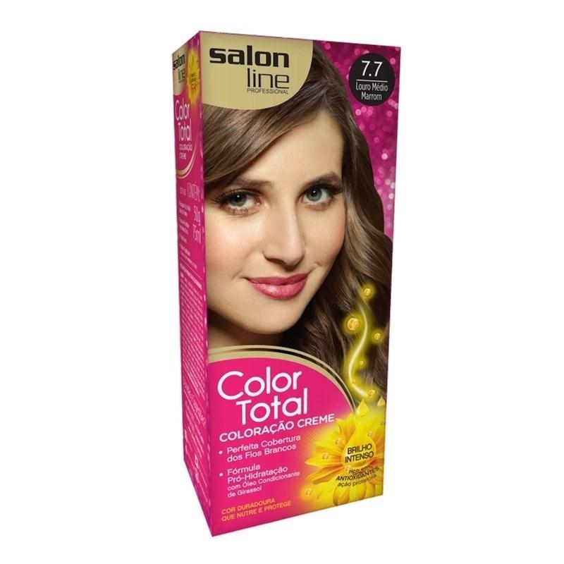 Coloração Salon Line Color Total Louro Médio Marrom 7.7