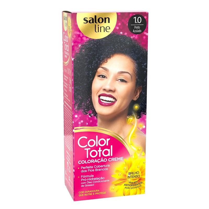 Coloração Salon Line Color Total Preto Azulado 1.0