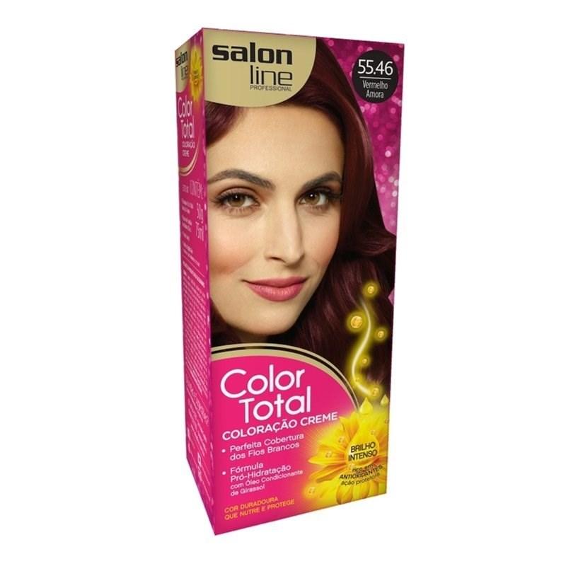 Coloração Salon Line Color Total Vermelho Amora 55.46
