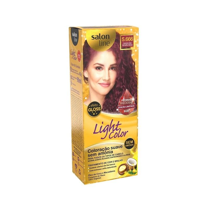 Coloração Salon Line Light Color Castanho Claro Vermelho Intenso 5.666