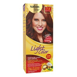 Coloração Salon Line Light Color Louro Mel Acobreado 7.4
