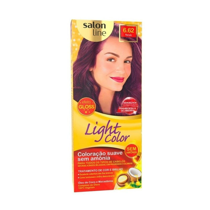 Coloração Salon Line Light Color Marsala 6.62