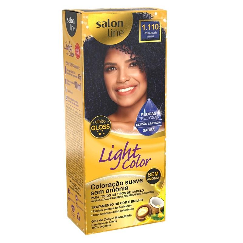 Coloração Salon Line Light Color Preto Azulado Intenso 1.110