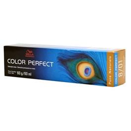Coloracão Wella Color Perfect 60 gr Louro Claro Natural Acinzentado 8.01